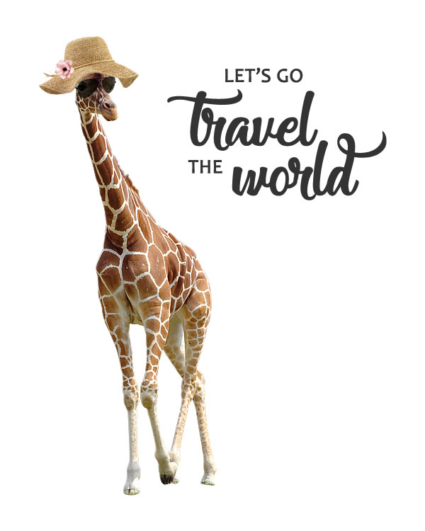 Let's Go Travel the World. Travel Poster in Watercolor Technique for all your projects and ideas. Travel Print, Quote, Travel Wall Art || 8x10 inches (HD pdf)