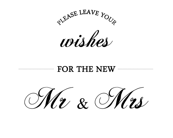 Please Leave Your Wishes For The New Mr & Mrs. Wedding Printable, Well Wishes Sign, Guest Book Sign, DIY Wedding Decor, Wedding advice sign || 8x10 inches (HD pdf)