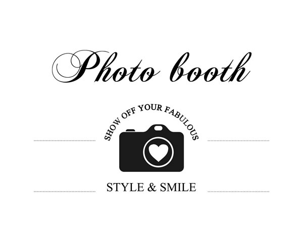 Wedding Photo Booth Sign Printable for the DIY Bride! Photo Booth Sign, Photobooth Sign, Wedding Photobooth Sign, Photo Booth Sign Printable, Wedding Photo Booth Sign, Photo Station Sign || 8x10 inches (HD pdf)
