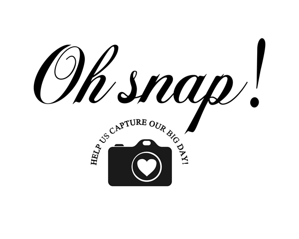 Oh Snap Printable Wedding Hashtag Party Sign, Rustic Modern Social Media Reception Decor Signage || 8x10 inches (HD pdf)