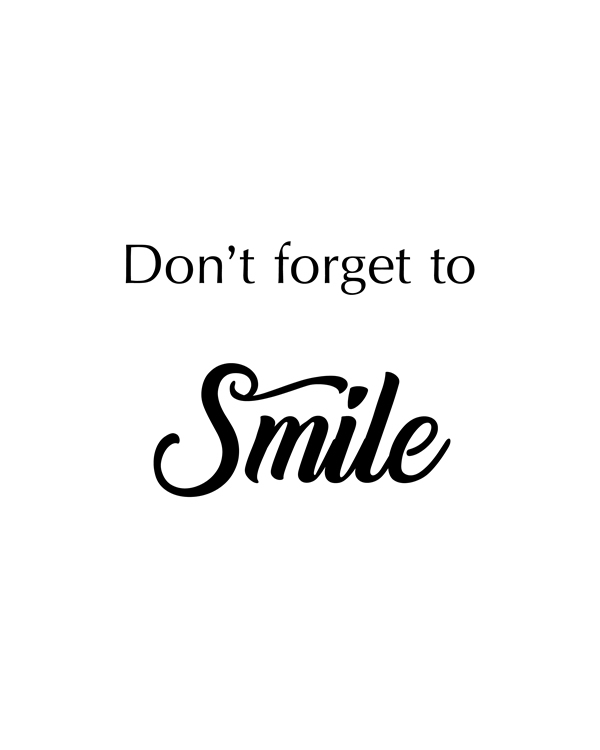 Don't Forget To Smile ia a Motivational Wall Art, Trending, Art Prints, Printable Art, Wall Art, Digital Prints, Inspirational Art, Printable Quote, Nursery Decor, Home Décor, Calligraphy, Typographic Art , Wall Art Printable || 8x10 inches (HD pdf)