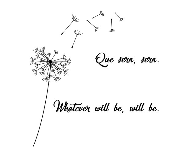 Que Sera Sera Whatever Will Be, Will Be. Motivational poster, Printable poster, Digital poster, Typography Song Lyric Art, Girls Room Nursery, Spanish Quote Print, Minimalist Wall Art, Black and White Print, What will be will be song, Wall Art || 8x10 inches (HD pdf)