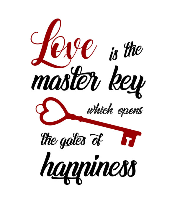 Love Is The Key To Happiness Wall Decor from www.wingswebdesign.eu