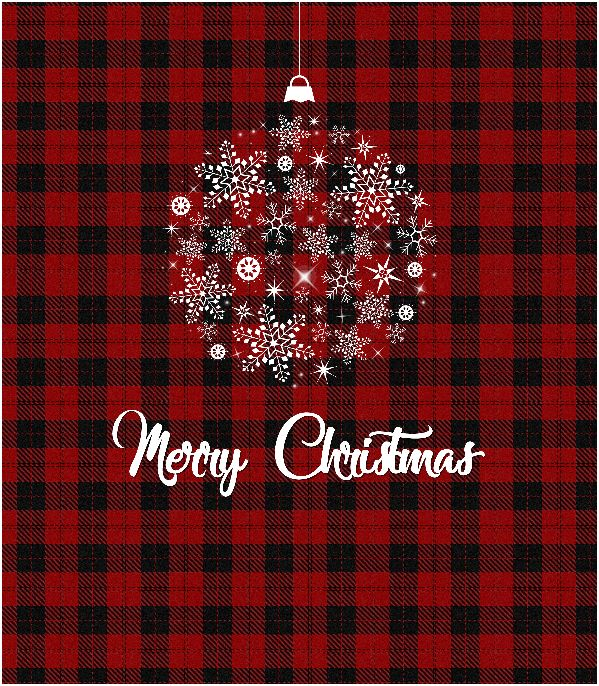 Merry Christmas printable wall art sign. Red Plaid Tartan, Holiday Printables, Christmas Wall Art, Home Decor, Farmhouse Decor || 8x10 inches (HD pdf)