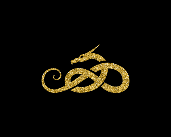 A glitter gold animal on black background, celtic knot, interlaced snake, Scottish Irish Celtic wall art, home decor, fine art. The Celts view every aspect of life as connected, intertwined. Celtic crosses reflect this awareness even in the most ancient designs, this is shown by incorporating a Celtic knot into every interlaced animal I make. They represent infinity and eternity because Celtic knots do not contain beginnings or ends. || 8x10 inches (HD pdf)