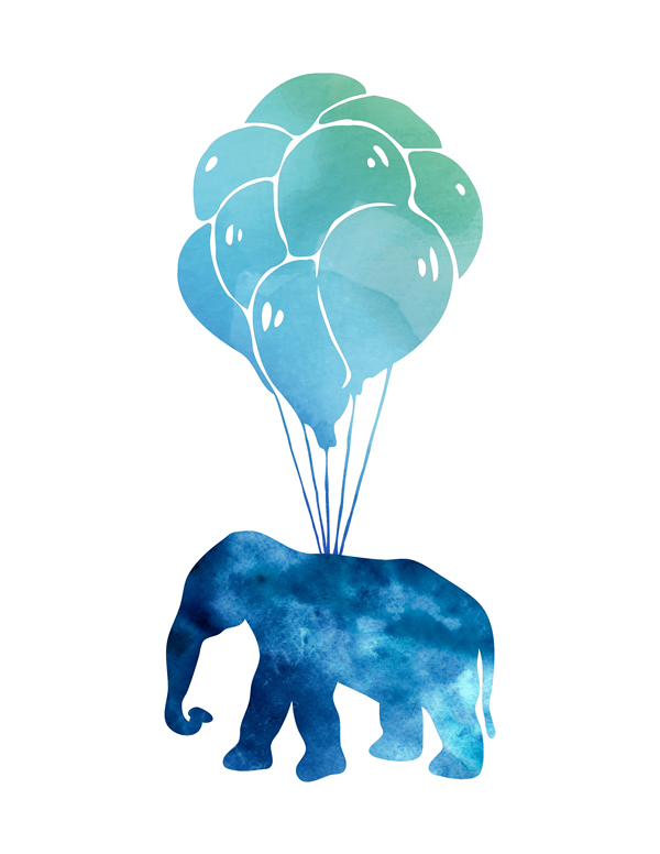 Elephant with navy balloon Flies. Baby Elephant and Balloons blue Watercolor Art Printable, Elephant Watercolor Art, Nursery Decor, Nursery Wall Art, Baby boy's print, Elephant illustration, Boy's nursery decor, Baby boy nursery, Navy balloon, Boy's room || 8x10 inches (HD pdf)