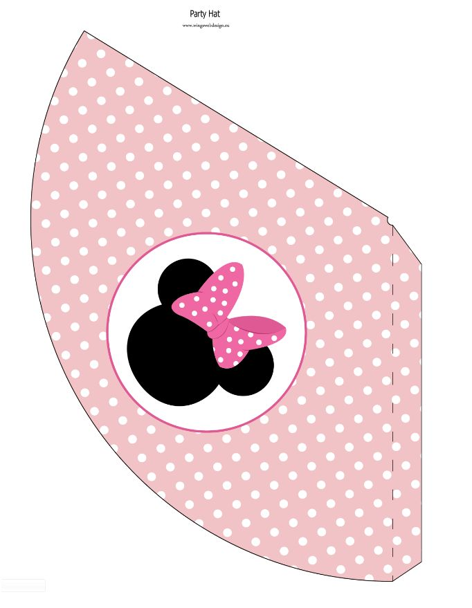 Minnie Mouse Birthday Hat printable