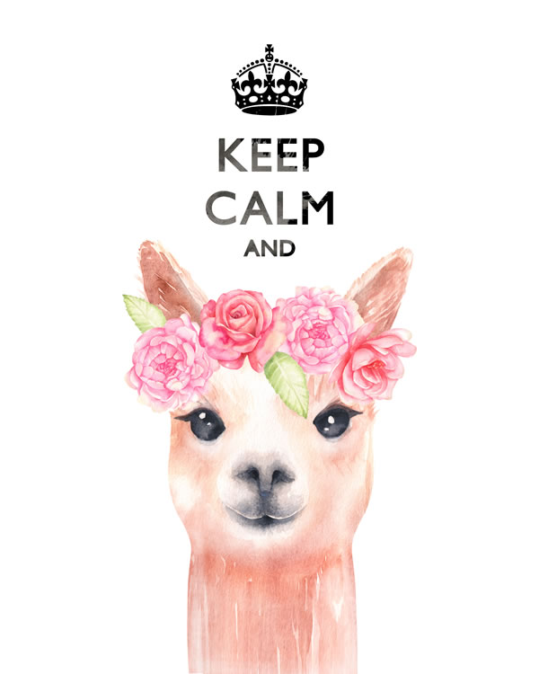 Keep calm and ... llama FREE printable wall art