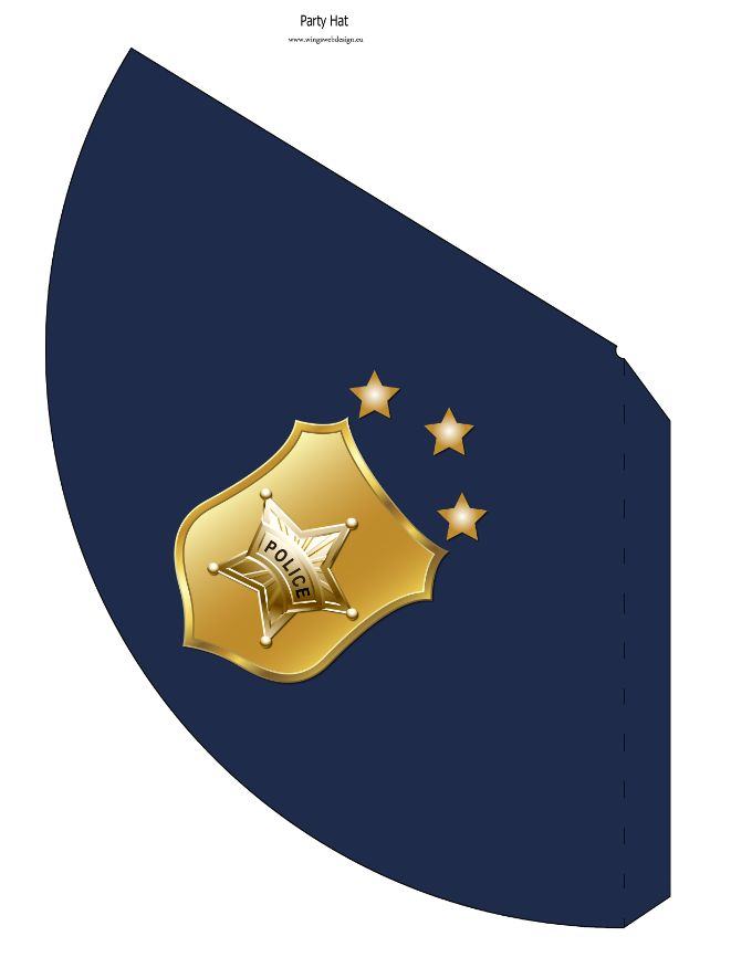 photo about Printable Police Hat identified as Immediate Down load printable Blue Law enforcement Hat WingsWebDesign.ecu