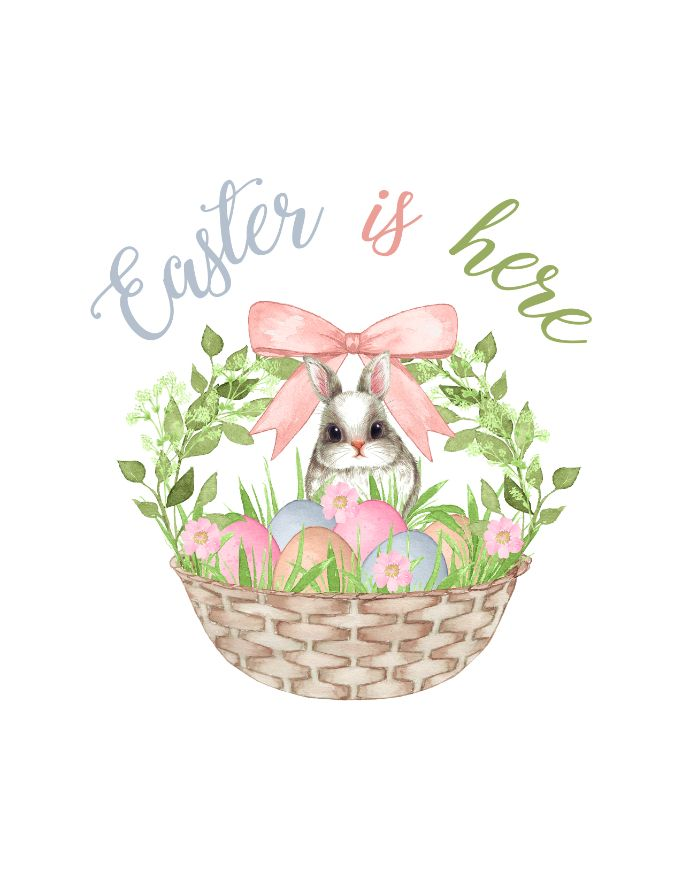 printable Easter is here wall art