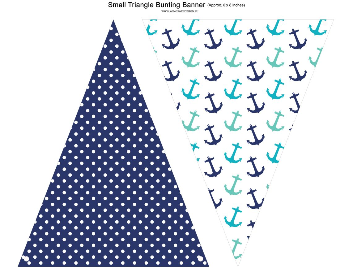 Nautical Birthday Party Banner, Nautical Anchor Banner, Bunting Banner, Flags, Turquoise White Blue