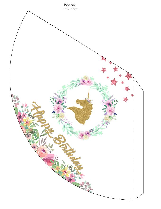 Free Instant Download Printable Party Hats Wingswebdesign Eu
